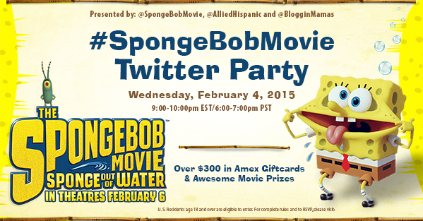 SpongeBob Movie Twitter Party 2-4-15 at 9pm EST