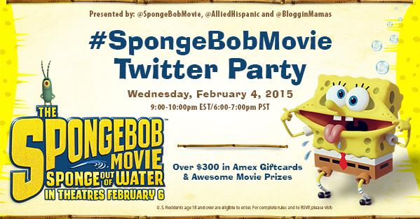SpongeBob Movie Twitter Party 2-4-15 at 9pm EST