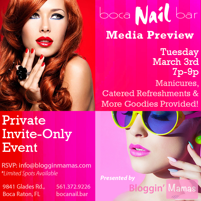 Boca Nail Bar Media Preview Party 3/3/15 7p-9p