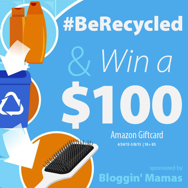 I Want to Be Recycled $100 Amazon Giftcard Giveaway Ends 5-8-15