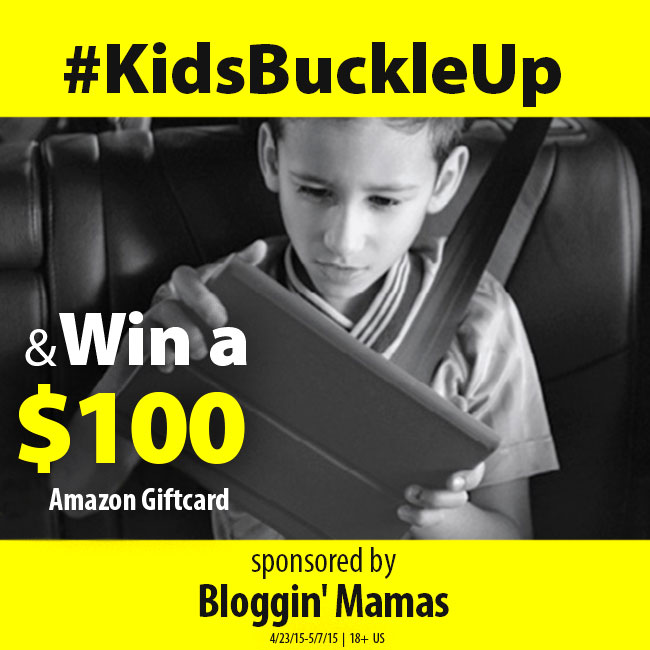 Seat Belt Safety Campaign- Win $100 Amazon Giftcard- Ends 5-7-15