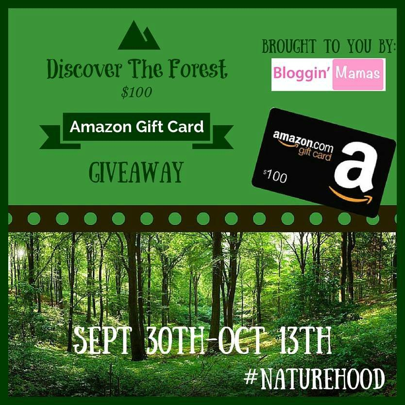 Win a $100 Amazon Giftcard from Bloggin' Mamas. 18+ US. Ends 10-13-15. Discover the Forest and win!