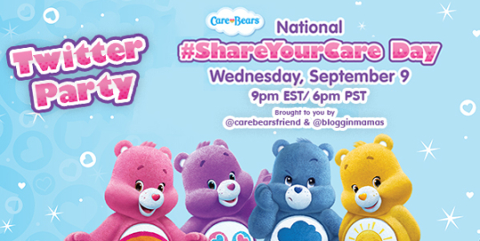 Care Bears Share Your Care Twitter Party 9-9-15 at 9pm EST