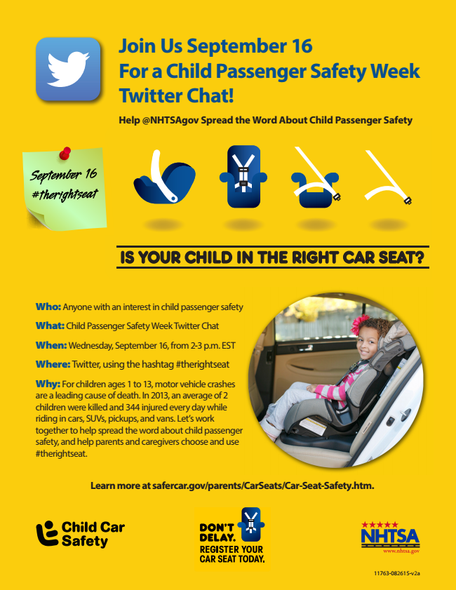 Child Passenger Safety Week twitter party