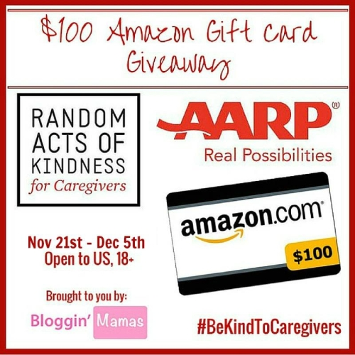 Random Acts of Kindness Giveaway AARP- Win $100 Amazon Giftcard- Ends 12-5-15