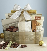 Fannie May festive gourmet gift basket