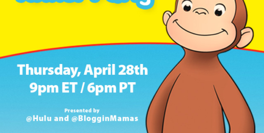 Curious George on Hulu Twitter Party 4-28-16 at 9p ET bit.ly/cgonhulursvp