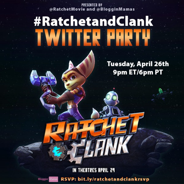 Ratchet and Clank Twitter Party 4-26-16 at 9p ET bit.ly/ratchetandclankrsvp