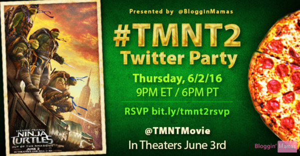 Join the TMNT 2 Twitter Party 6-2-16 at 9p ET. RSVP bit.ly/tmnt2rsvp