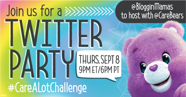 Care-a-Lot Challenge Twitter Party 9-8-16 at 9p ET.