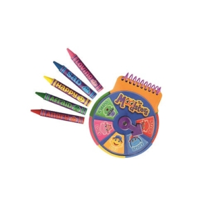 The Moodsters Feelings Notebook and Feelings Crayons