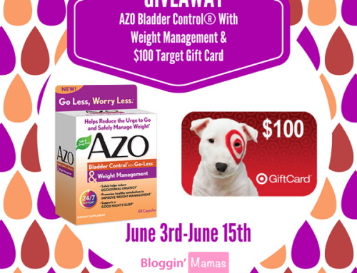 AZO Bladder Control® & Weight Management Coupon and Target Gift Card Giveaway- Ends 6-15-17