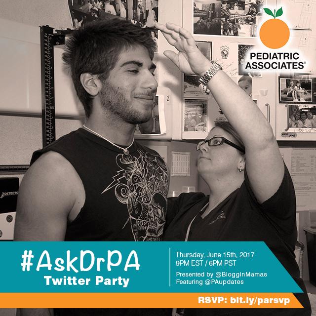 Pediatric Associates #AskDrPA Twitter Party 6-15-17 at 9p ET bit.ly/parsvp