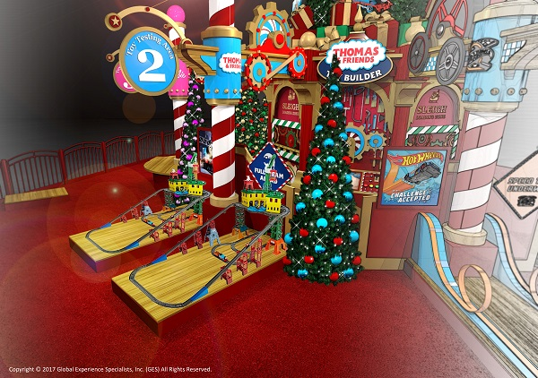 Southwest Plaza Mall Santa, When does santa arrive at Southwest Plaza Mall in Colorado 2017, 2017 Santas toy factory, Mattel and Santa at malls, Mattel events, Free mattel events with santa, colorado blogger, denver blogger, ©2017 Gullane (Thomas) Limited. ©2017 Mattel. All Rights Reserved.