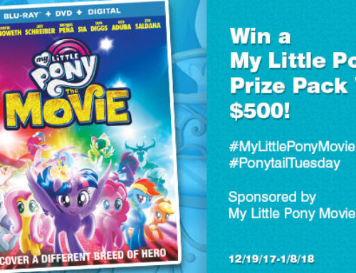 Win a $500 My Little Pony Prize Pack & Style Your Own Pony Hair Too!