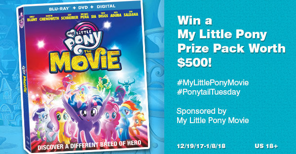 My Little Pony: The Movie $500 Prize Pack Giveaway!! Ends 1/08!! 9